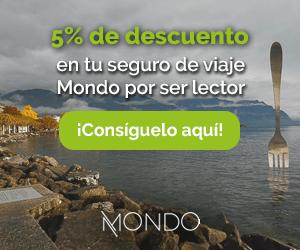 Descuento 5 por ciento en tu seguro de viaje Mondo - Los viajes de Margalliver
