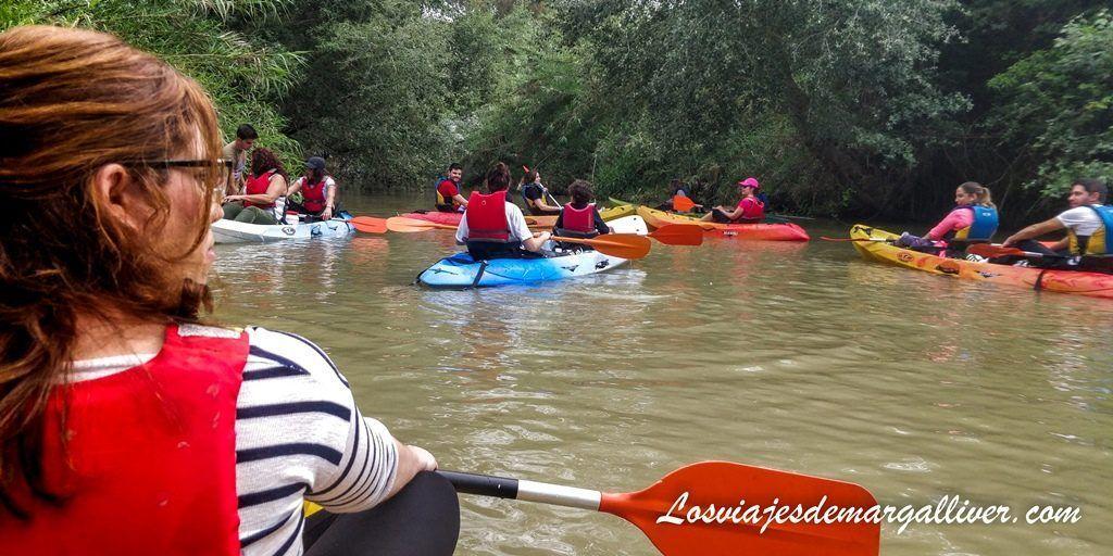 de ruta en Kayak por el guadiamar, un entorno de ensueño, ruta por el Rocío en Sevilla - Los viajes de Margalliver