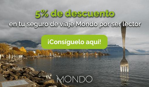descuento 5 por ciento en tu seguro de viaje con Mondo - Los viajes de Margalliver