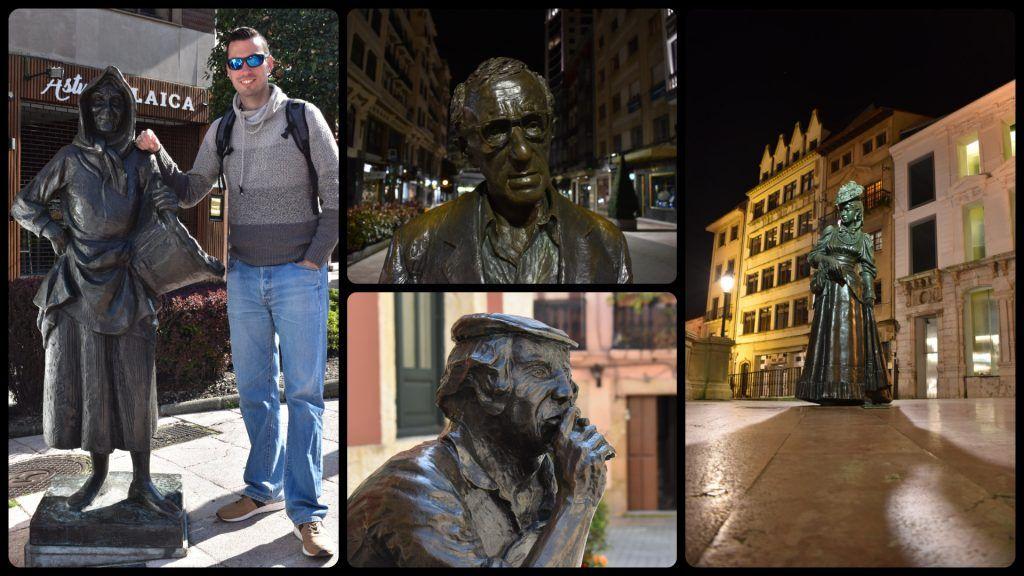 Esculturas de Oviedo, Wody Allen y La regenta, que ver en oviedo en dos días - Los viajes de margalliver