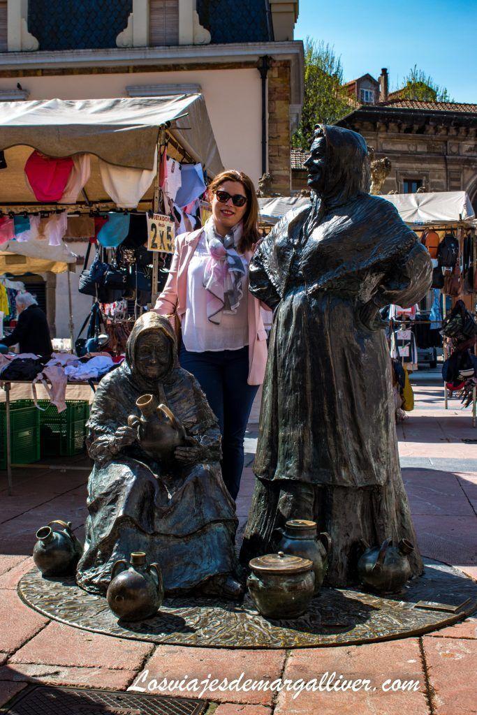 La plaza del Fontan y las vendedoras del fontan, que ver en Oviedo en dos días - Los viajes de Margalliver