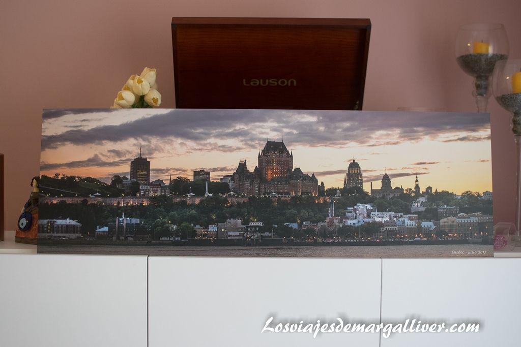 Vistas del a ciudad de Quebec, opinión de mi cuadro de Saal Digital - Los viajes de Margalliver