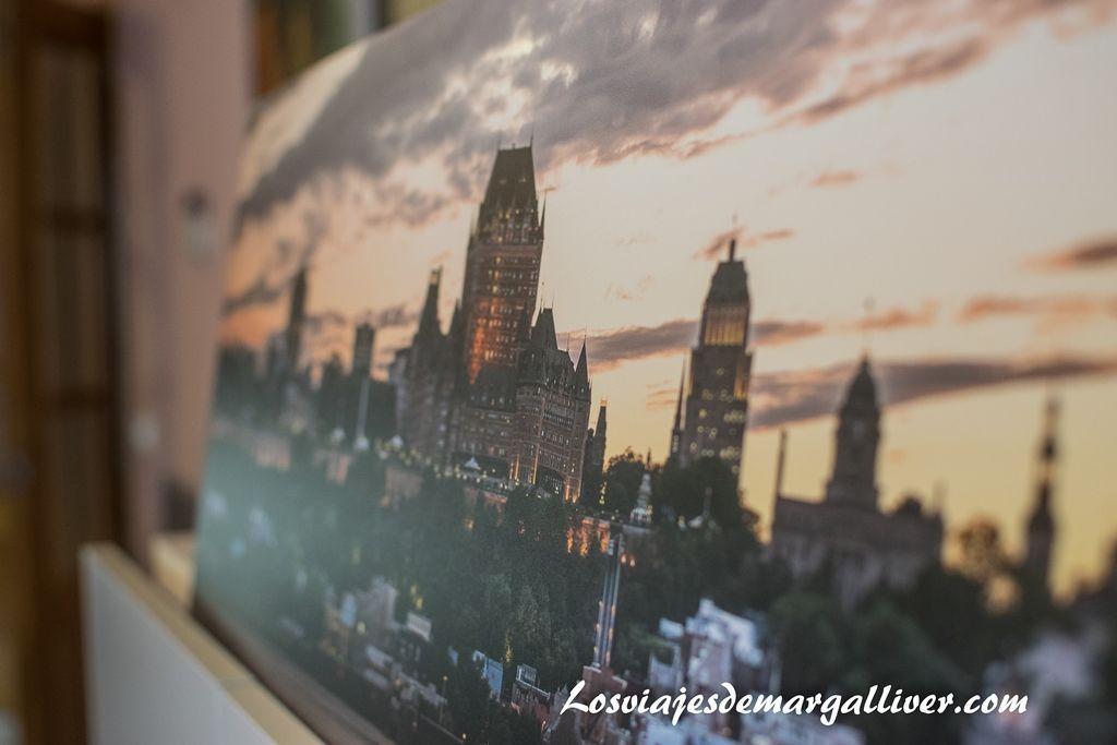 Vistas detalle de Quebec opinión de mi cuadro de Saal Digital - Los viajes de Margalliver