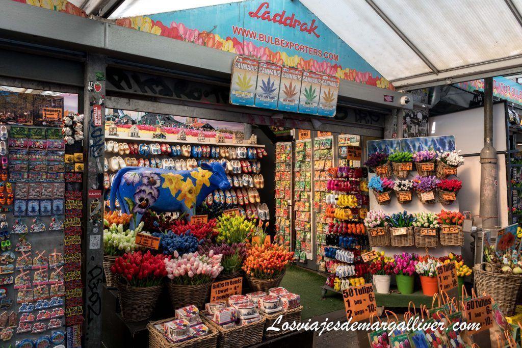Mercado de las flores de Ámsterdam - Ámsterdam en 3 días - Los viajes de Margalliver