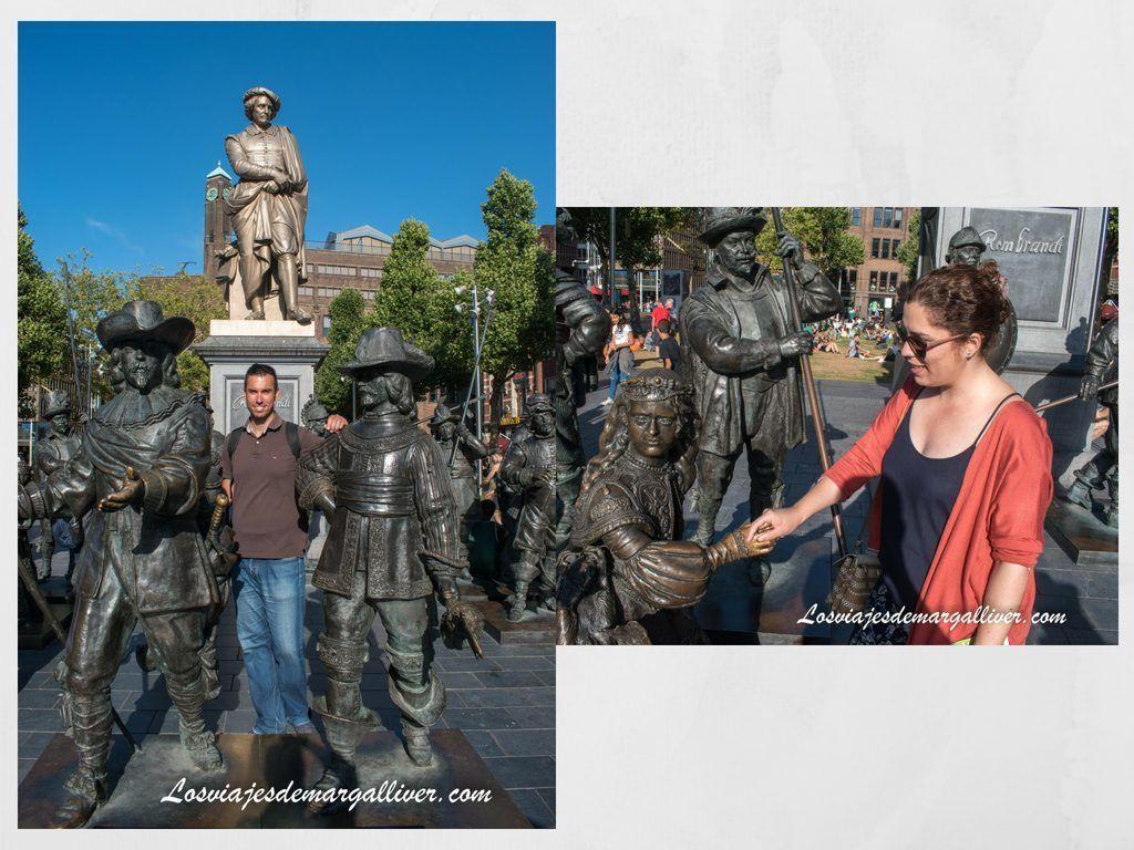 La plaza de Rembrant en Ámsterdam, Ámsterdam en 3 días - Los viajes de Margalliver