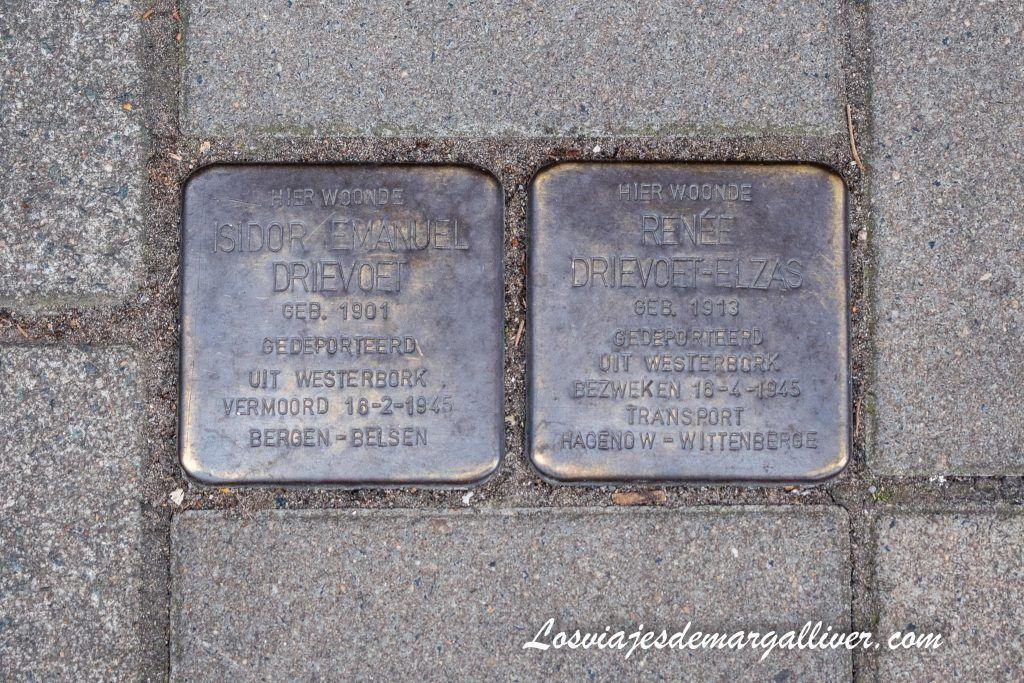 Stolpersteine en Ámsterdam - calleRoemer Visscherstraat - Ámsterdam en 3 días - Los viajes de Margalliver