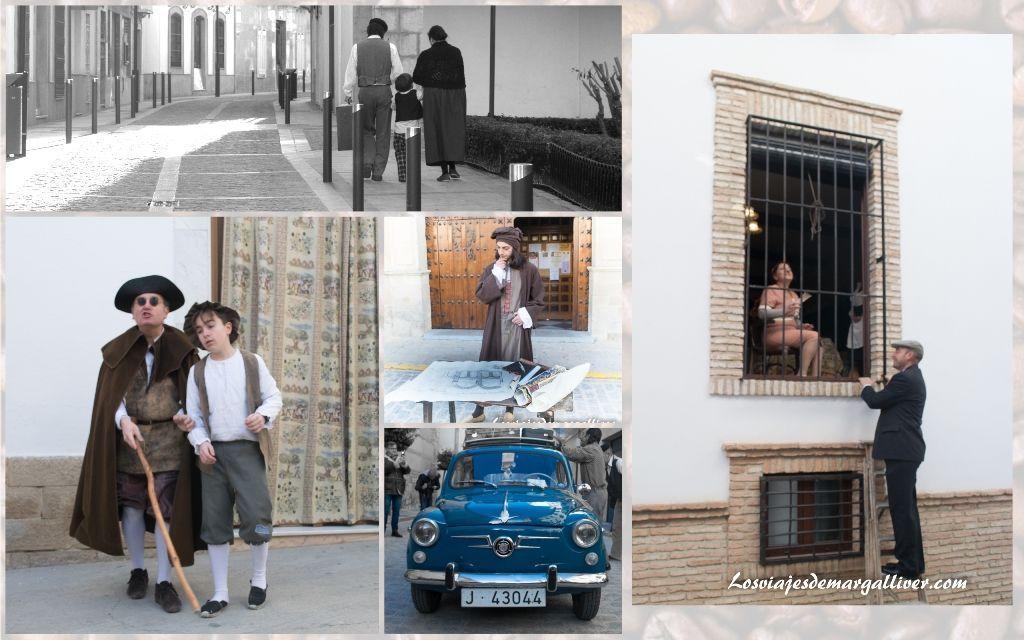 Escenas de la vida cotidiana representadas por la asociación cultural, Vientos del Tiempo , pueblos de Jaén - Los viajes de margalliver