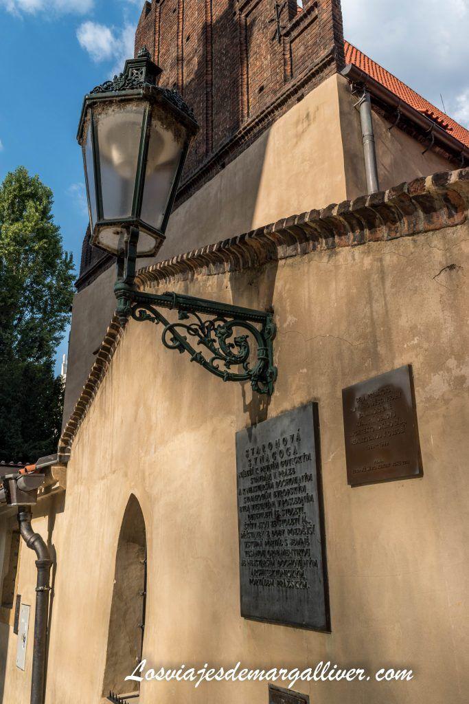 Ruta por las sinagogas de Praga Sinagoga vieja-nueva Staronova synagoga - Los viajes de Margalliver