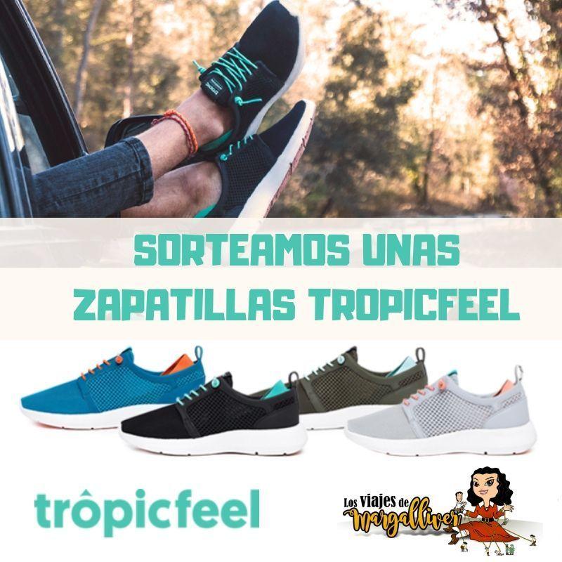 sorteo zapatillas TropicFeel por nuestro tercer aniversario - Los viajes de Margalliver