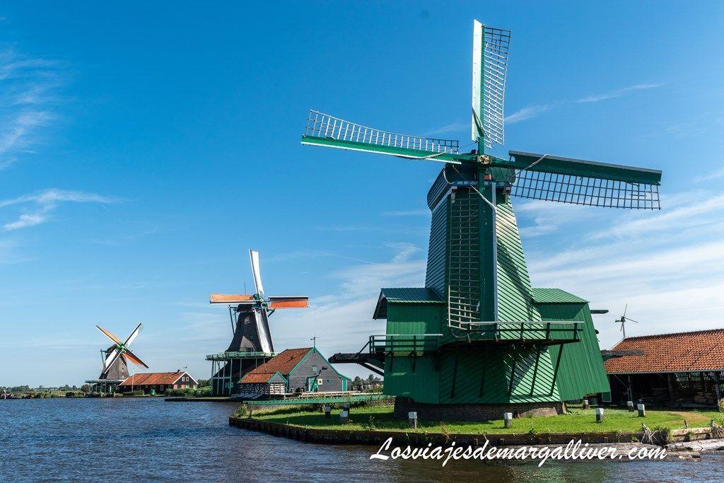 Molinos de Zaanse Schans, que ver en Amsterdam - Los viajes de Margalliver