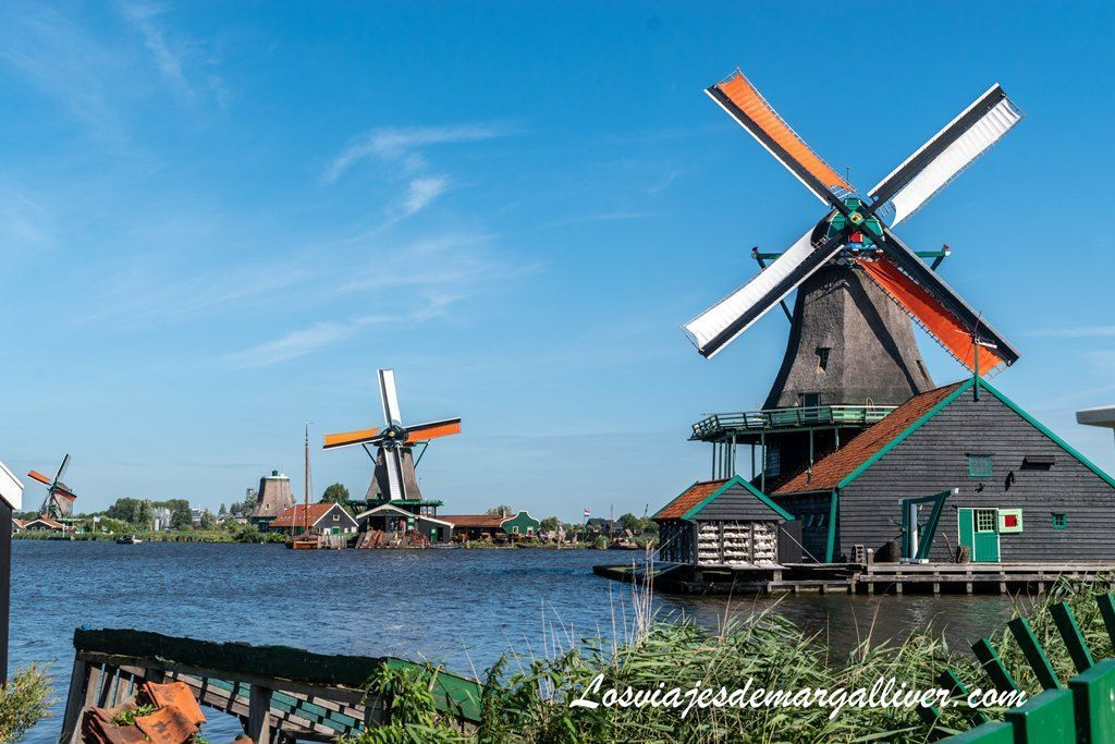 Molinos de Zaanse Schans , pueblos cerca de Ámsterdam - Los viajes de Margalliver