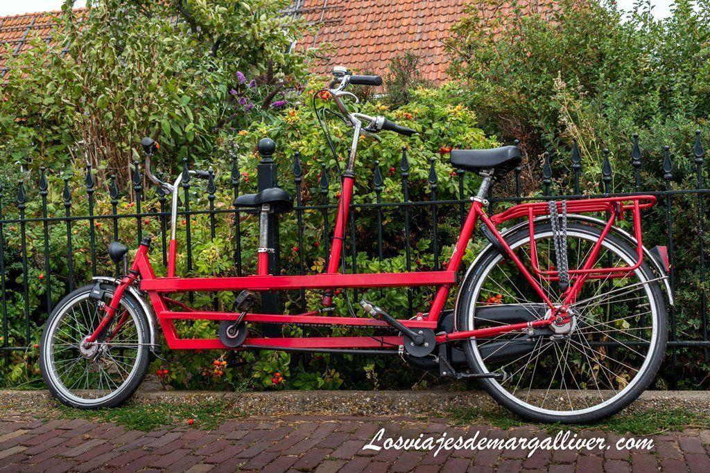 Tandem visto en Marken, pueblos muy cerca de Ámsterdam - Los viajes de Margalliver