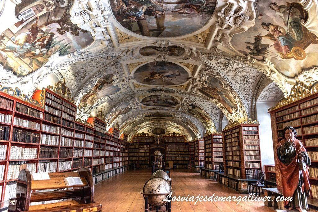Biblioteca del monasterio de Strahov, que ver en Praga - Los viajes de Margalliver