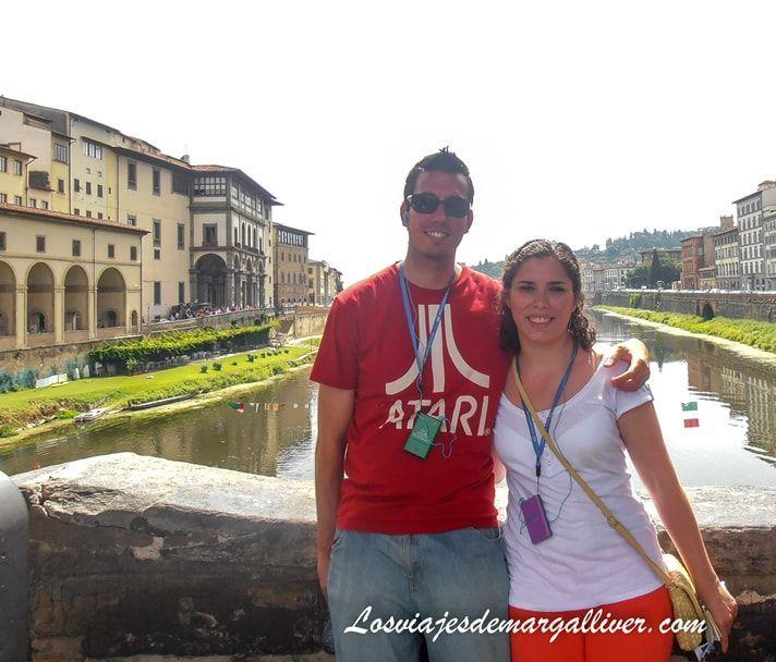 Ponte vecchio en FLorencia , ciudad super romántica de Europa - Los viajes de Margalliver