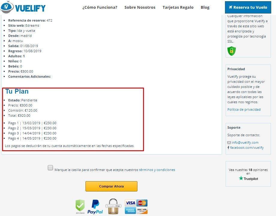 plan de pagos de Vuelify, tus billetes de avión a plazos - los viajes de Margalliver
