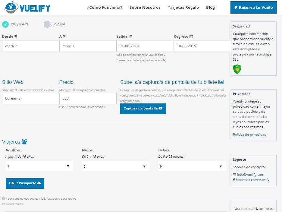 reserva de tu vuelo a plazos con Vuelify - Los viajes de Margalliver