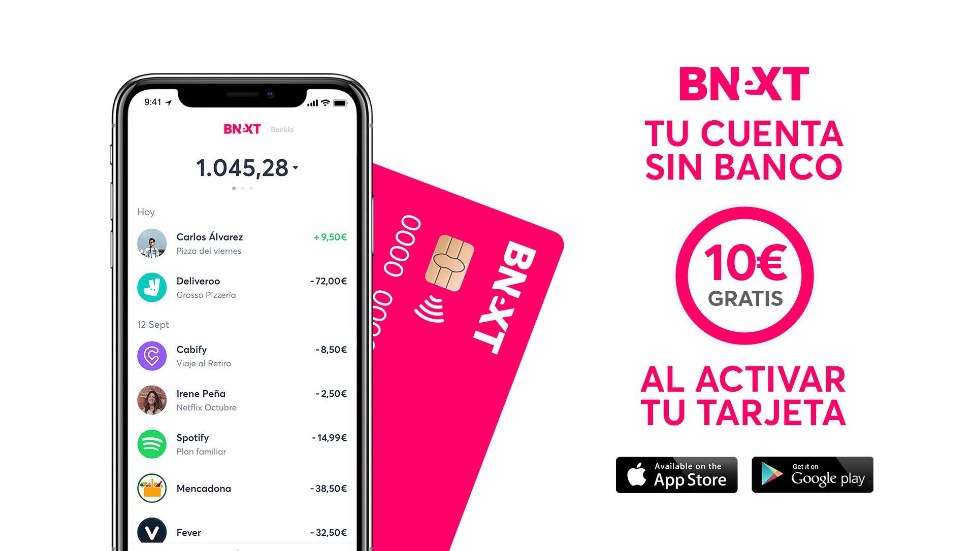 tarjeta bnext para sacar dinero en el extranjero gratis