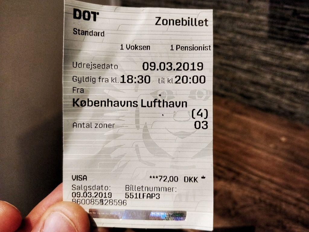 Billete de tren para dos personas del aeropuerto a la estación central de Copenhague - Los viajes de Margalliver