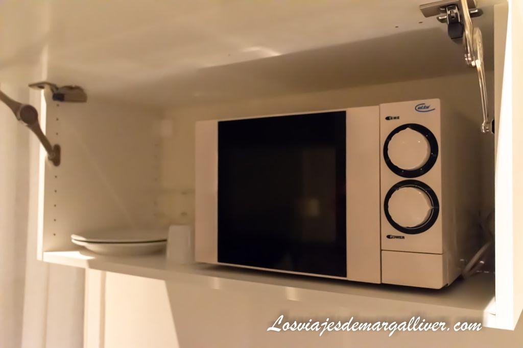 Microondas de la habitación del hotel Tiffany en Copenhague - Los viajes de Margalliver