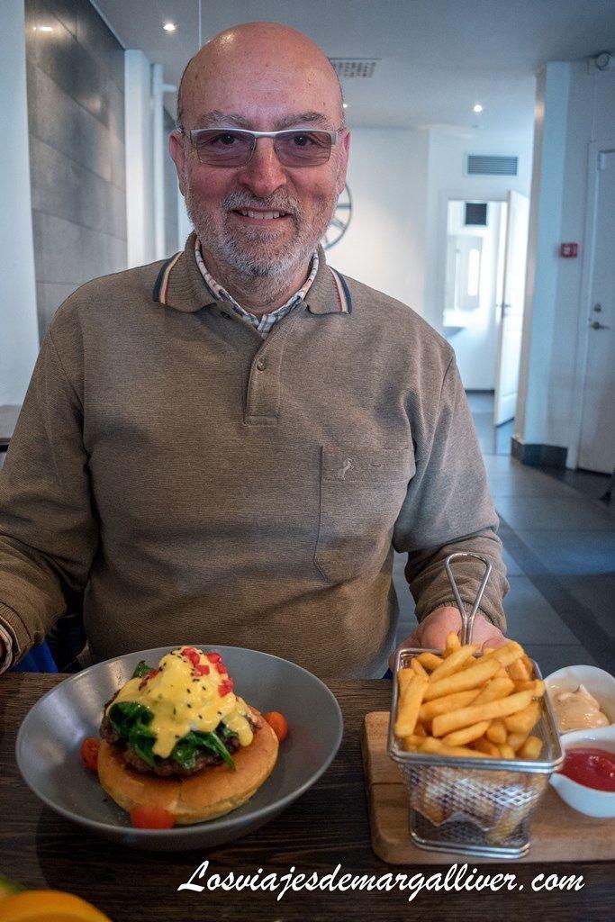 Hamburguesa fuera del pan en Copenhague - Los viajes de Margalliver