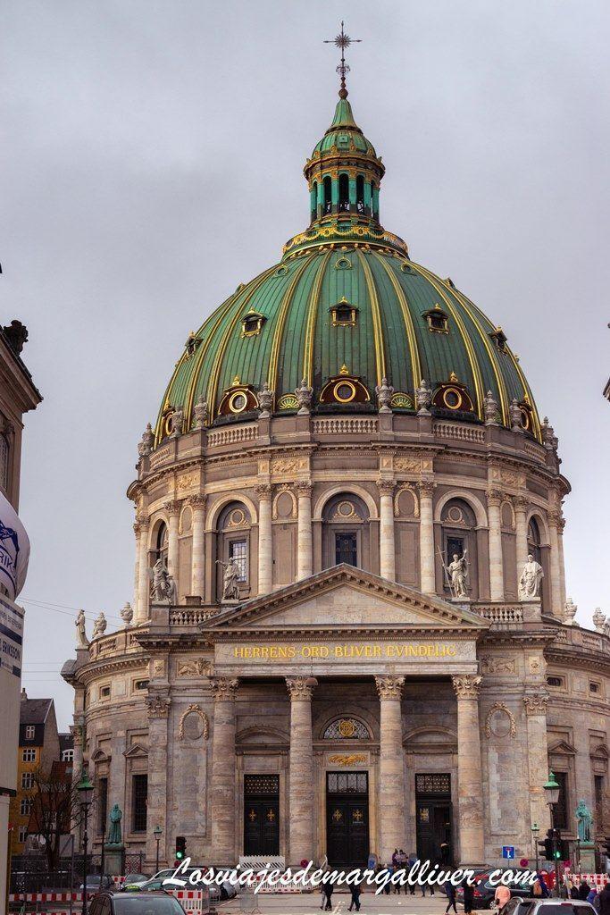 Fachada de la Iglesia de Marmol de Copenhague - Los viajes de Margalliver