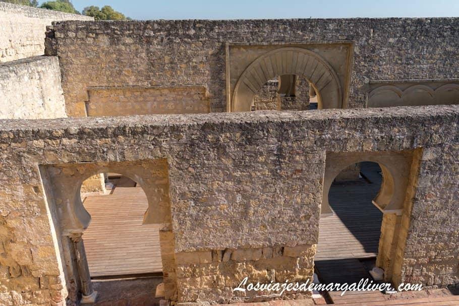 Vista desde arriba del Salón Basilical Superior, visitar Medina Azahara - Los viajes de Margalliver