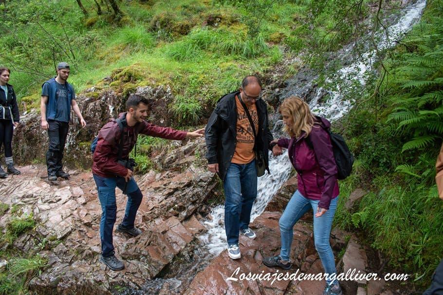 Hayedo en Steall Waterfalls en Escocia - Los viajes de Margalliver