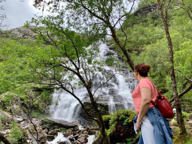 Steall Waterfalls en Escocia - Los viajes de Margalliver