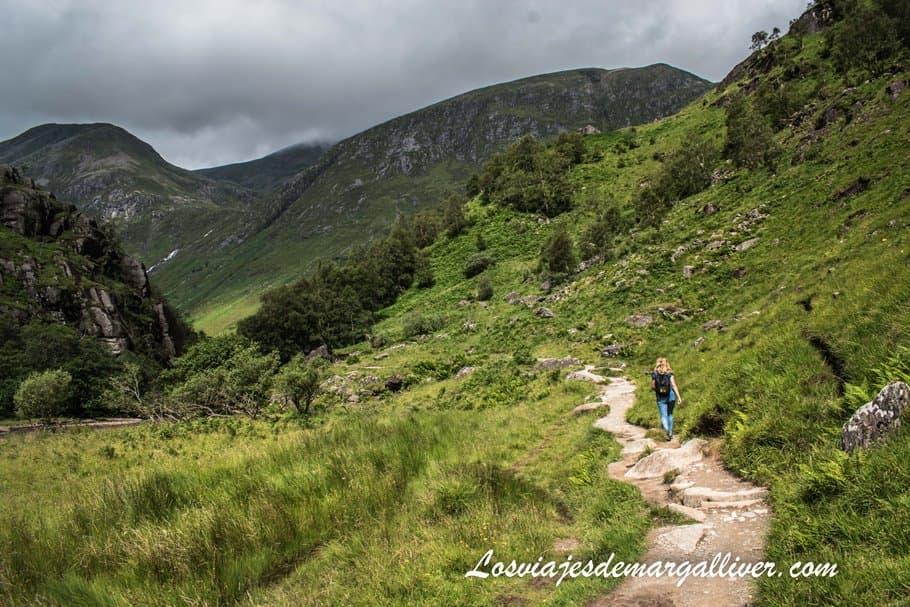Valle Glen Nevis en Fort Williams en Steall Waterfalls en Escocia - Los viajes de Margalliver