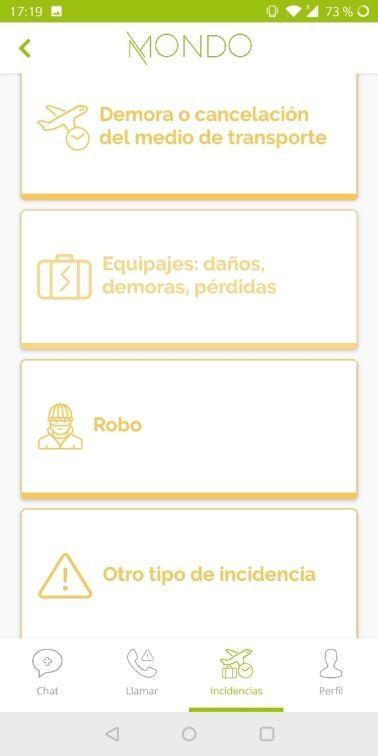 app Mondo, registrar incidencia - Los viajes de Margalliver
