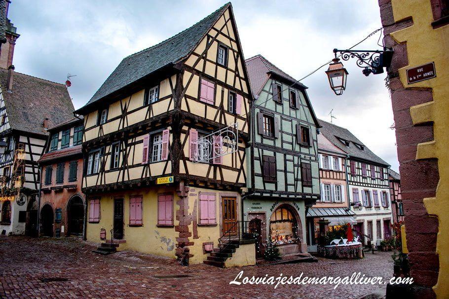 Típica casa alsaciana en Riquewihr - Los viajes de Margalliver