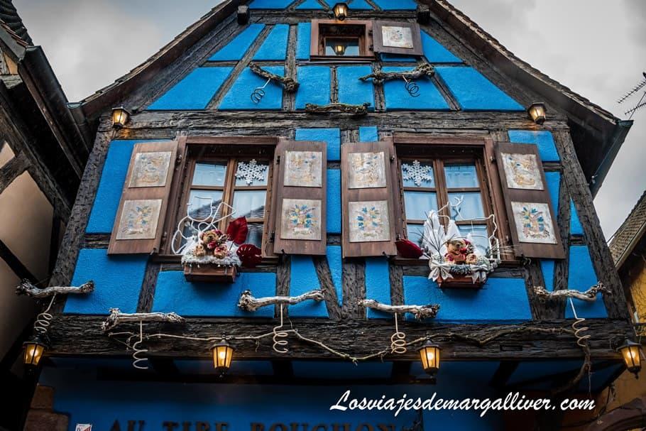 Maison Zimmer, Típica casa de Alsacia en Riquewihr en Alsacia en Navidad - Los viajes de Margalliver
