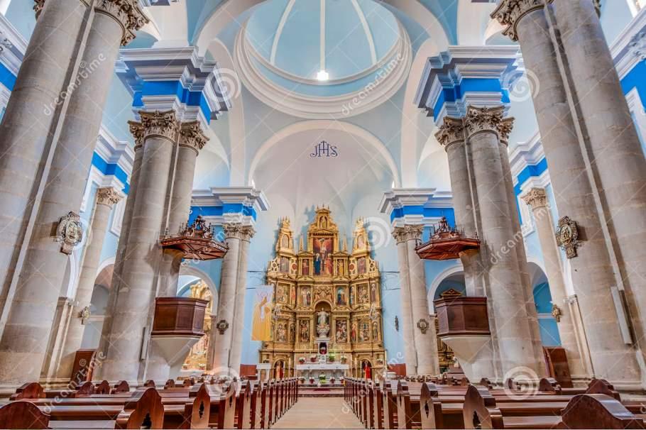 Interior Iglesia Parroquial de la Asunción calaceite, uno de los pueblos mas bonitos de Teruel - Los viajes de Margalliver