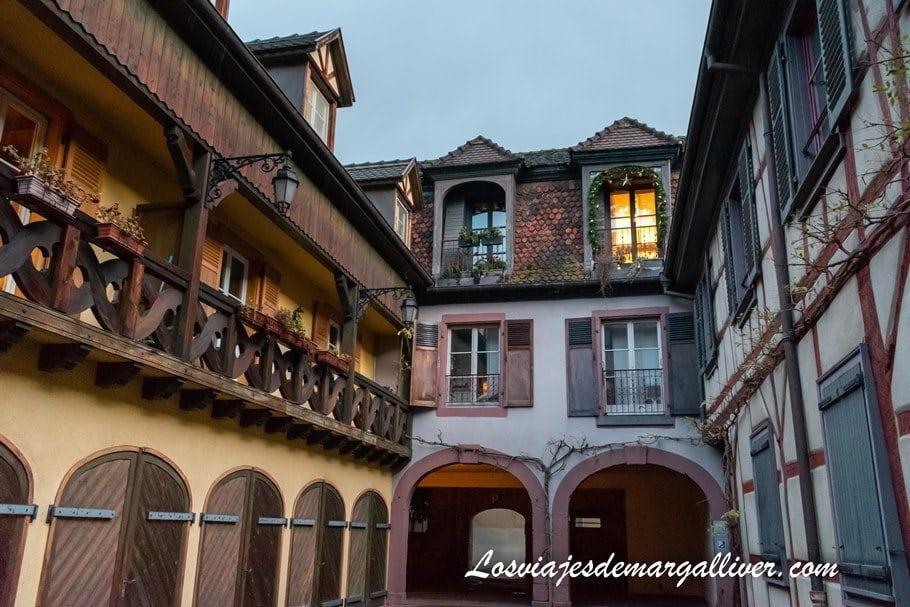 Entrada de nuestra casa de intercambio con HomeExchange en Colmar - Los viajes de Margalliver