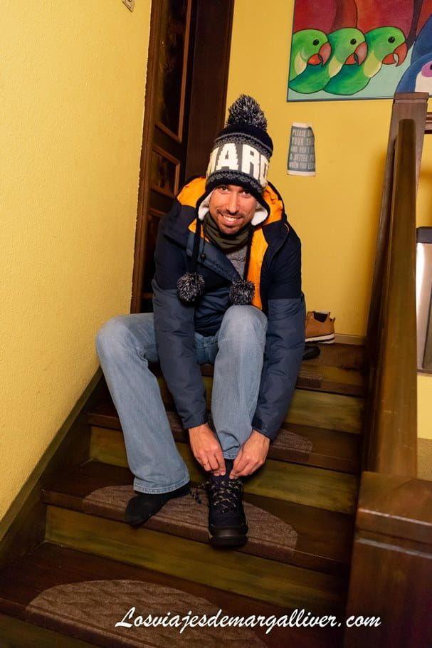 kike poniendose zapato, casa intercambio homeexchange en Colmar - Los viajes de Margalliver