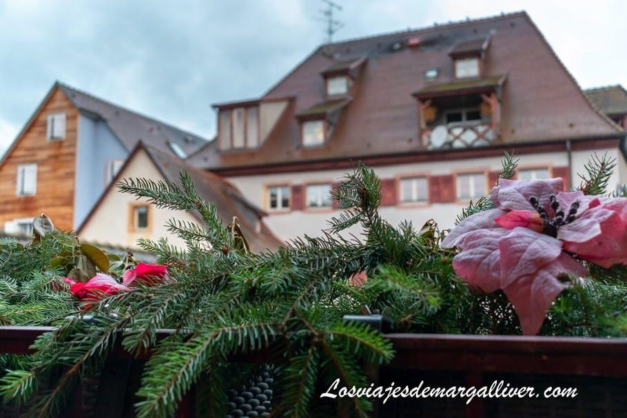 detalle terraza intercambio de casa con HomeExchange en Colmar - Los viajes de Margalliver