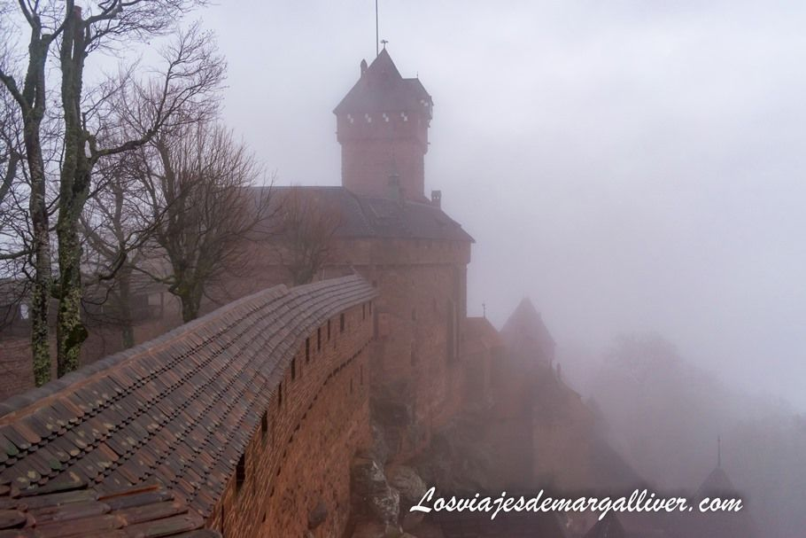 vistas desde el Gran Bastión del castillo de Haut-Koenigsbourg - Los viajes de Margalliver