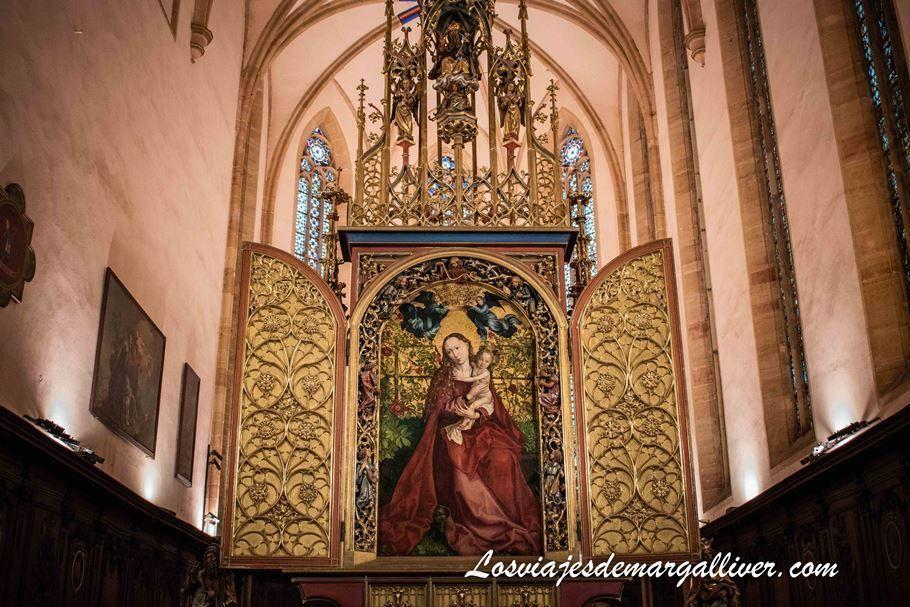 """La Vierge Au Buisson de Roses"" en Colmar - Los viajes de Margalliver"