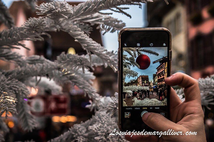 Típica foto navideña en Colmar, Alsacia - Los viajes de Margalliver