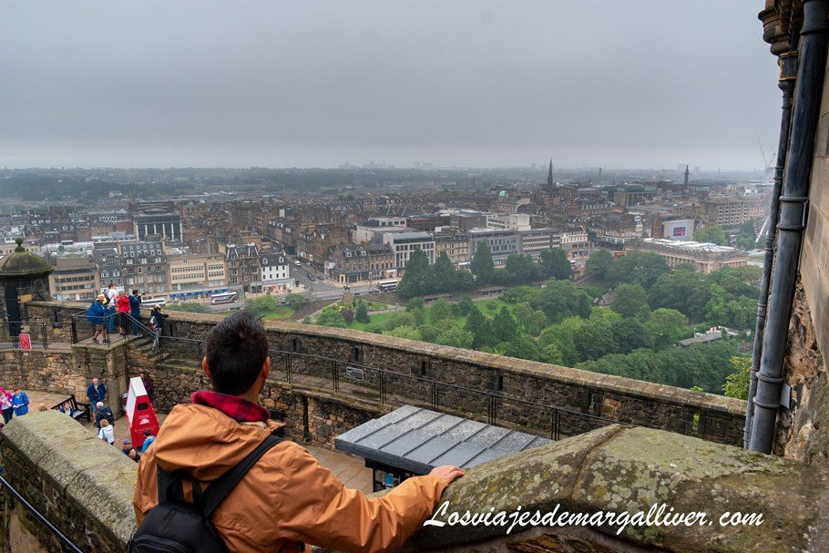Vistas de Edimburgo desde su castillo - Los viajes de Margalliver