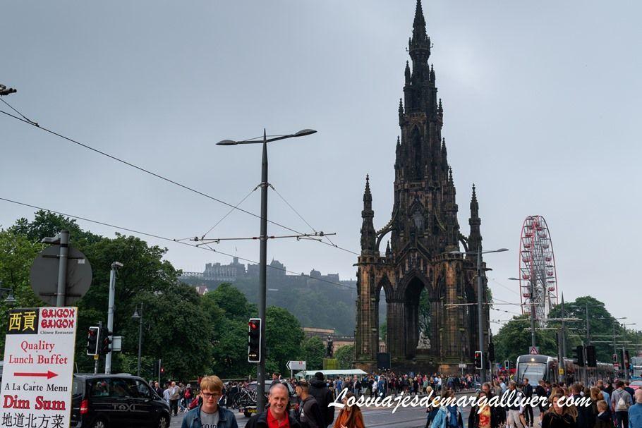Monumento a Scott en Edimburgo - Los viajes de Margalliver