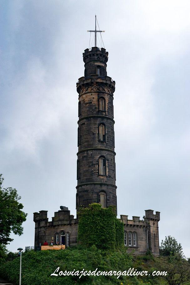 Torre Monumento a nelson en Calton Hill, Edimburgo - Los viajes de Margalliver
