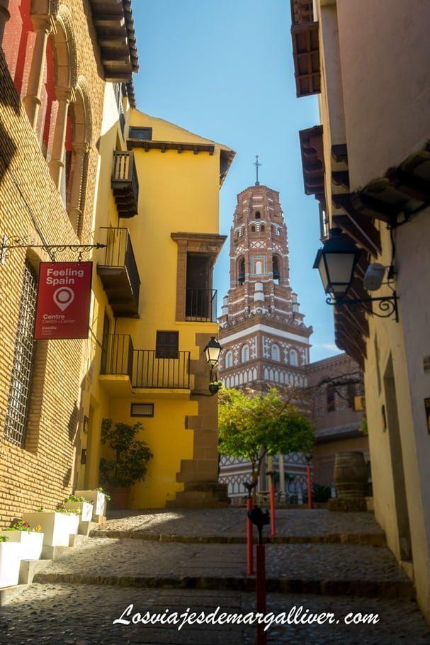 Balcón esquinado de Albarracín, representado en el Pueblo Español de Barcelona - Los viajes de Margalliver