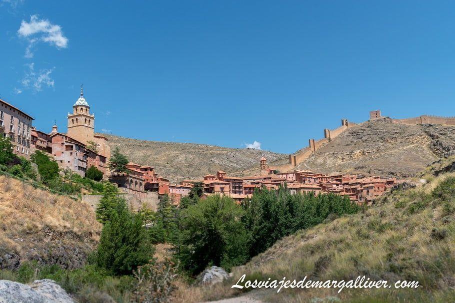 Vistas de Albarracín desde uno de los miradores del sendero fluvial - Los viajes de margalliver