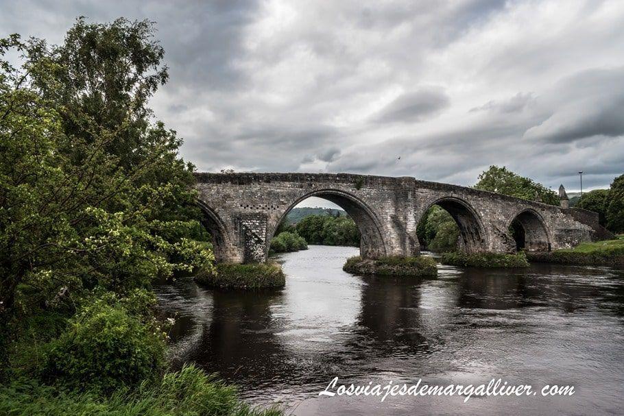 puente de Stirling, donde tuvo lugar la famosa batalla con William Wallace en Escocia - Los viajes de Margalliver