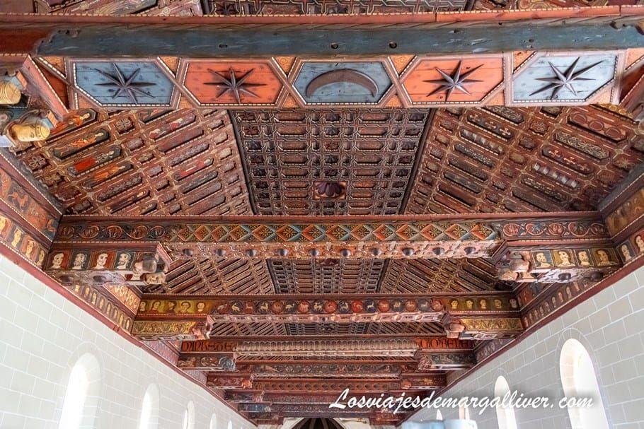 Techumbre mudejar en la Catedral de Santa María de Mediavilla de Teruel - Los viajes de Margalliver