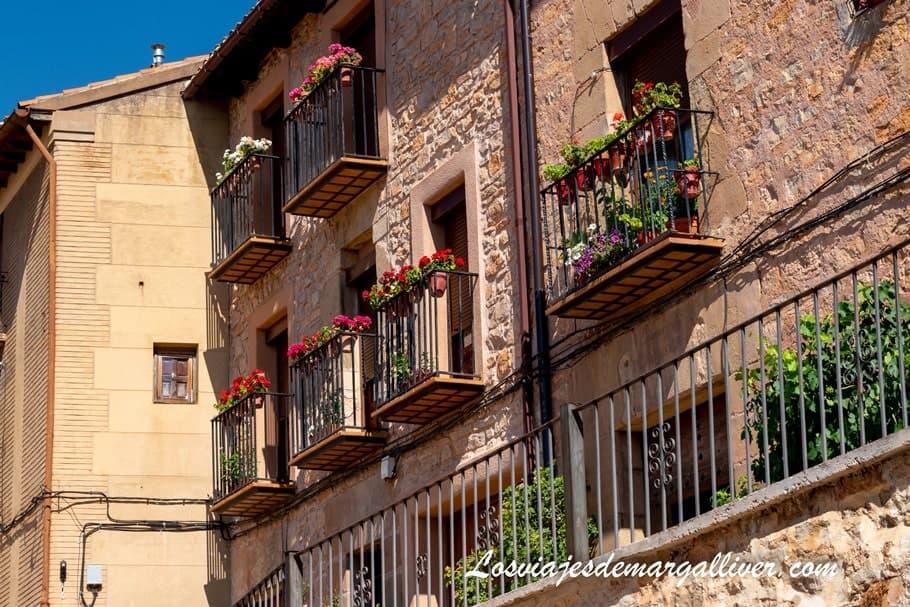 Balcones en el casco historico de Molina de Aragón - Los viajes de Margalliver