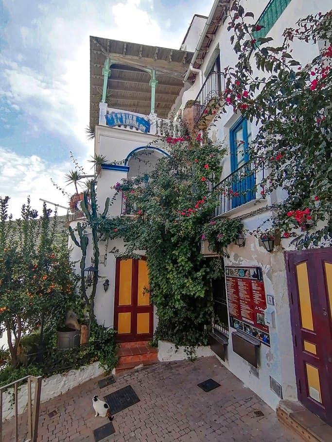 Calle de Mojácar, uno de los pueblos más bonitos que visitar en Andalucía - Los viajes de Margalliver