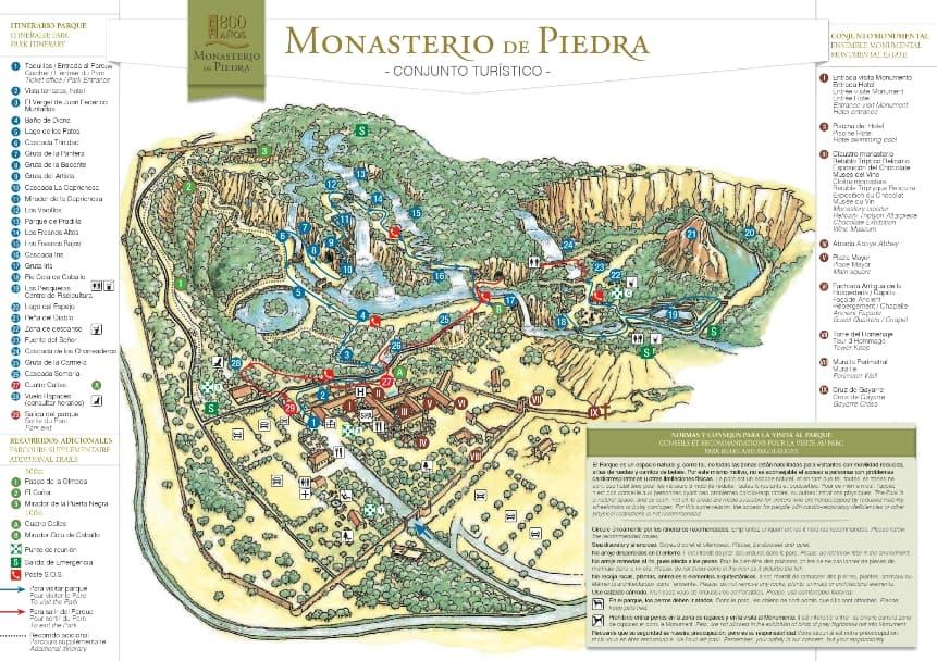 Plano del Monasterio de Piedra - Los viajes de Margalliver