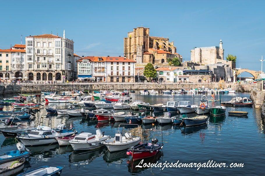 Puerto de Castro Urdiales, una de las estampas más bonitas de esta ciudad - Los viajes de Margalliver